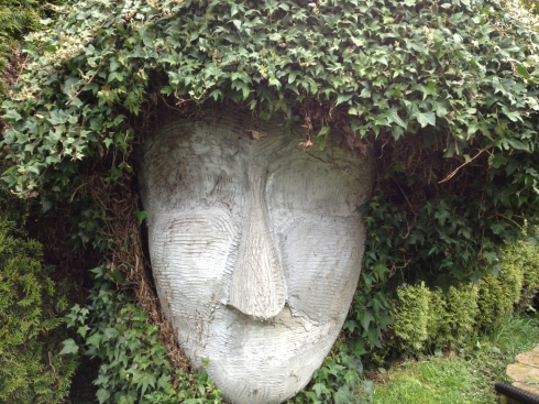 Garden sculpture at a private residence in Tacoma Washington.